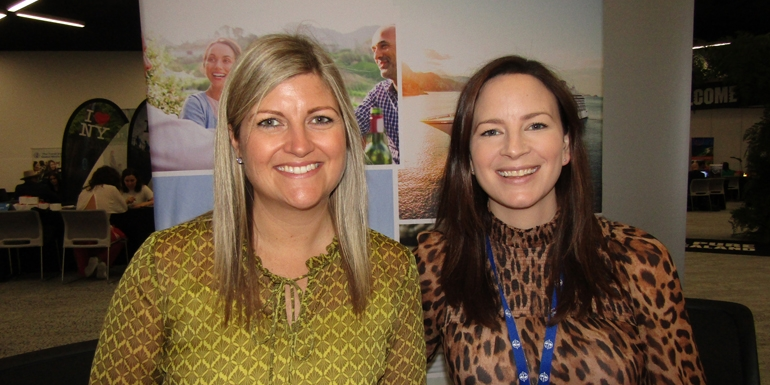 Viking's Erin Kramer, marketing manager, and Anna Bathgate PR and communications manager at the International Media Marketplace in Sydney recently