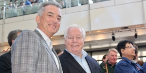 Chris Thompson, Brand USA and Roger Dow, US Travel Association at IPW's press briefing in Washington DC this weekend US Travel Association fires back at Trump proposal while Brand USA remains optimistic