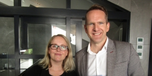 Kate Parker, public relations Australia and New Zealand; James Thornton, chief executive officer with Intrepid