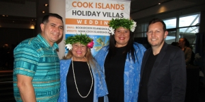William Best, Air New Zealand; Lacynthia Mata, Shona Lynch, both Cook Islands Holiday Villas; James Leslie, Air New Zealand