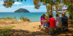 MoaTours cruises out for a picnic in the Abel Tasman National Park