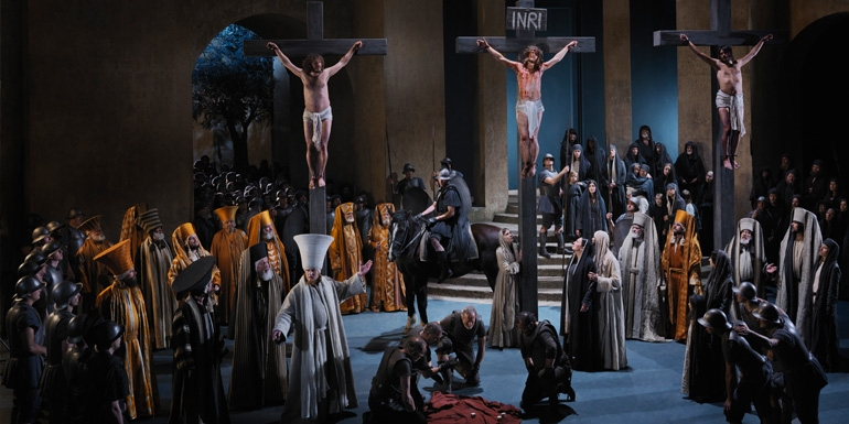 The Passion Play in Oberammergau takes place every ten years