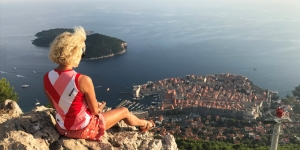 Finishing the walk on a 'high' in Dubrovnik