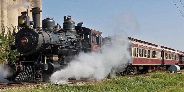 Vintage rail in Grapevine, Texas... the destination is represented here by Canuckiwi