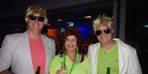 Celebrating the 80s…David Coombes, Flight Centre Group; Kay Dunn, Stephen Dunn, both Vincent George Travel, Christchurch