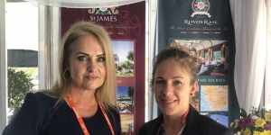 Estee Badenhorst and Alicia Taljaard were on the Rovos Rail booth at Indaba this week