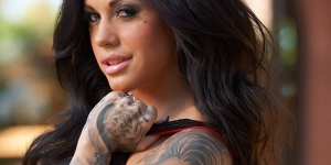Heather Moss, tattoo model, will be onboard U's tattoo themed river cruise in Germany in August
