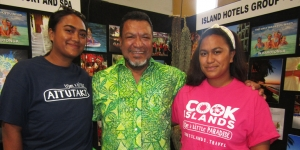 Promoting Island Hotels Group at Flight Centre Travel Expo in Auckland… Noeline Atama, Emile Kairua, Tearoa Atama
