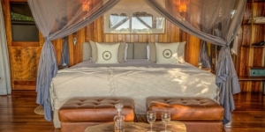 A luxury tent in Okavango Delta… accommodation on safari available through A Walker's World