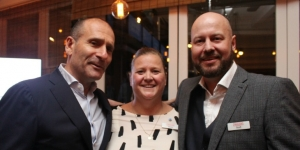Trafalgar chief executive Gavin Tollman, Marija Tolj and Scott Cleaver, the Travel Corporation