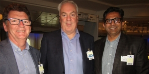 House of Travel's Jeff Leckey, Mark O'Donnell, Hemal Jani