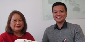 Didi Virata is heading to Manila, Israel Fontanilla is the new face in the Auckland office