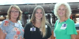 Celia Honiss, World Travellers Kerikeri, Taylor Price and Andree Sabourin, both Cruise World