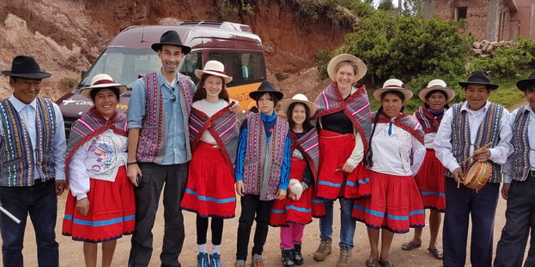 Visitors are treated as family at the Misminay community in Peru