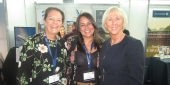 Megan King, CLIA; Leigh Somerville, helloworld Blenheim; Cindy D'Aoust, CLIA at the recent Cruise360 Conference in Sydney
