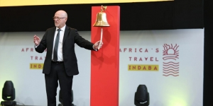 Derek Hanekom, Minister of Tourism South Africa, officially opens Africa's Travel Indaba
