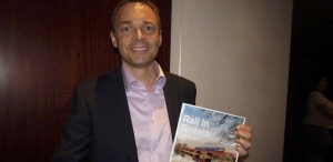 Mark Haynes with the Rail in Britain brochure