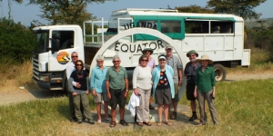 A recent group with The Safari Company NZ at the Equator in Uganda